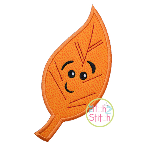 Cute Fall Leaf 3 Applique