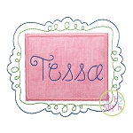 Fancy Frame Applique