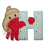 Hermit Crab Alphabet Set Applique