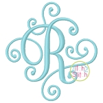 Elegant Scroll ONE COLOR SMALL Monogram