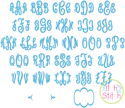 Empress Monogram Embroidery Font The Itch 2 Stitch