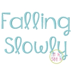 Falling Slowly Embroidery Font