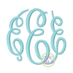 Fancy Circle Monogram2 SMALL Size