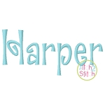 Harper Embroidery Font