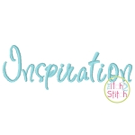 Inspiration Embroidery Font