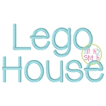 Lego House Embroidery Font