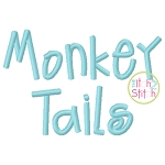 Monkey Tails Embroidery Font