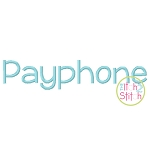 Payphone Embroidery Font