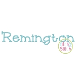 Remington Embroidery Font