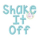 Shake It Off Embroidery Font
