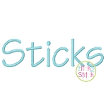 Sticks Embroidery Font