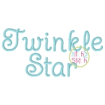 Twinkle Star Embroidery Font