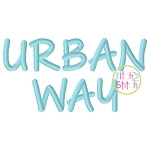 Urban Way Embroidery Font