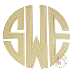 Natural Circle Monogram Applique Font