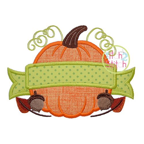 Pumpkin Banner Applique