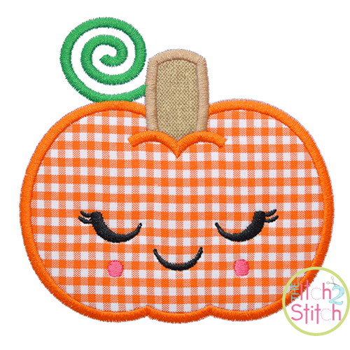 Shy Pumpkin Applique
