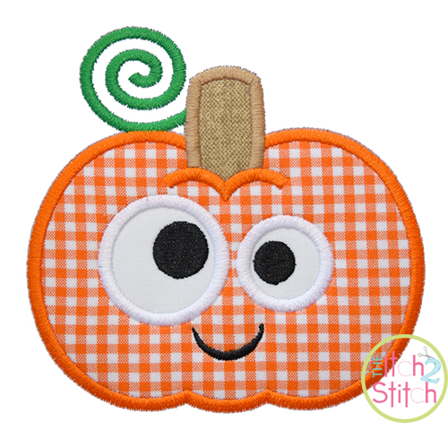 Silly Pumpkin Applique