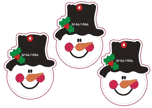 Rub on Snowman Faces Snowman Face Felt Ornament
