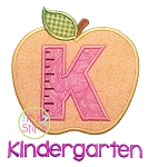 Apple School Kindergarten Number Applique