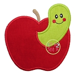 Apple Worm Applique