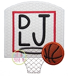 Basketball Goal Applique
