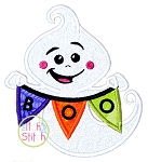 Boo Banner Ghost Applique