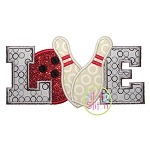 Bowling Love Applique
