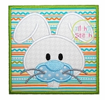 Bunny Face Box Applique
