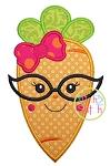 Carrot Glasses Girl Applique