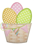 Easter Egg Barrel Applique