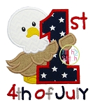 First 4th of July Eagle Applique