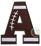 Football Alpha Applique Set