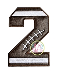 Football Numbers Applique Set