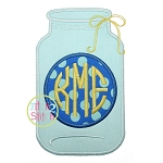 Glass Jar Monogram Applique