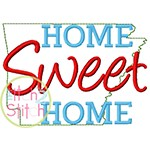Home Sweet Home Arkansas Embroidery