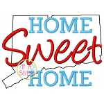Home Sweet Home Connecticut Embroidery