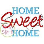 Home Sweet Home North Carolina Embroidery