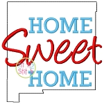 Home Sweet Home New Mexico Embroidery