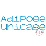 Adipose Unicase Embroidery Font