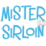 Mister Sirloin Embroidery Font