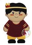 Indian Boy Jersey Applique