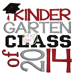 Kindergarten Class of 2014 Embroidery
