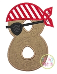 Pirate Number Set Applique