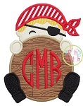 Pirate Monogram Peeker Applique