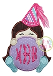 Princess Cone Monogram Peeker Applique
