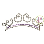 Princess Crown Topper Embroidery
