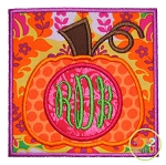 Pumpkin Box Monogram Applique