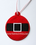 ITH Santa Belt Christmas Ornament and Gift Tag