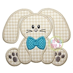 Sitting Bunny Boy Applique