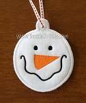 ITH Snowman Face 2 Christmas Ornament and Gift Tag